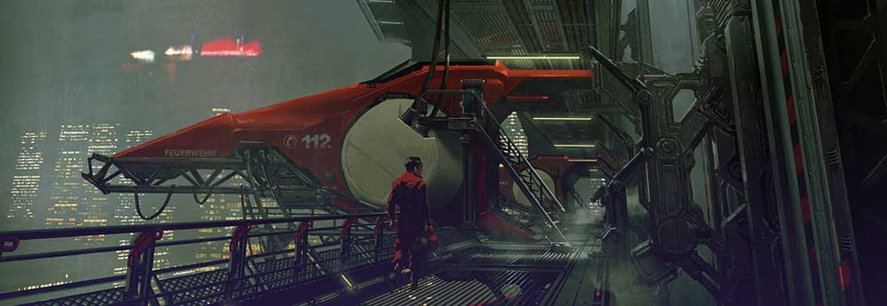 The Sci-Fi Concept Artworks of Leif Heanzo