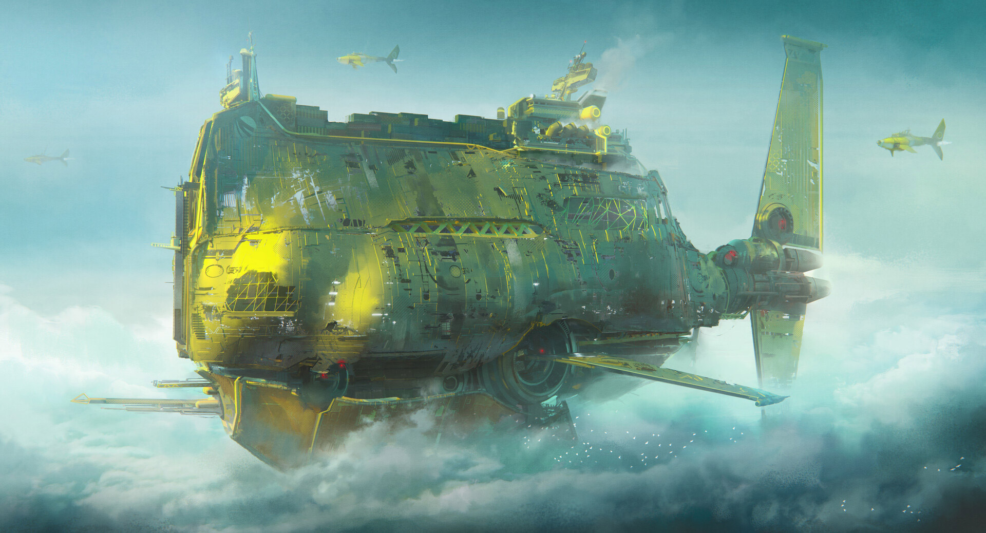 The Sci-Fi Cityscapes of Leon Tukker