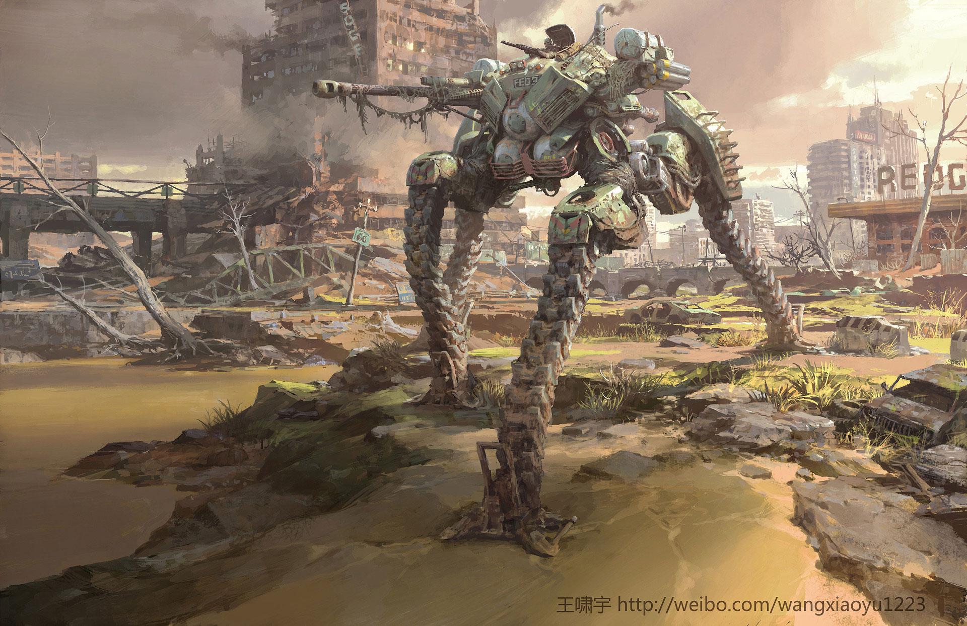 The Glorious Sci-Fi & Fantasy Art of Xiaoyu Wang