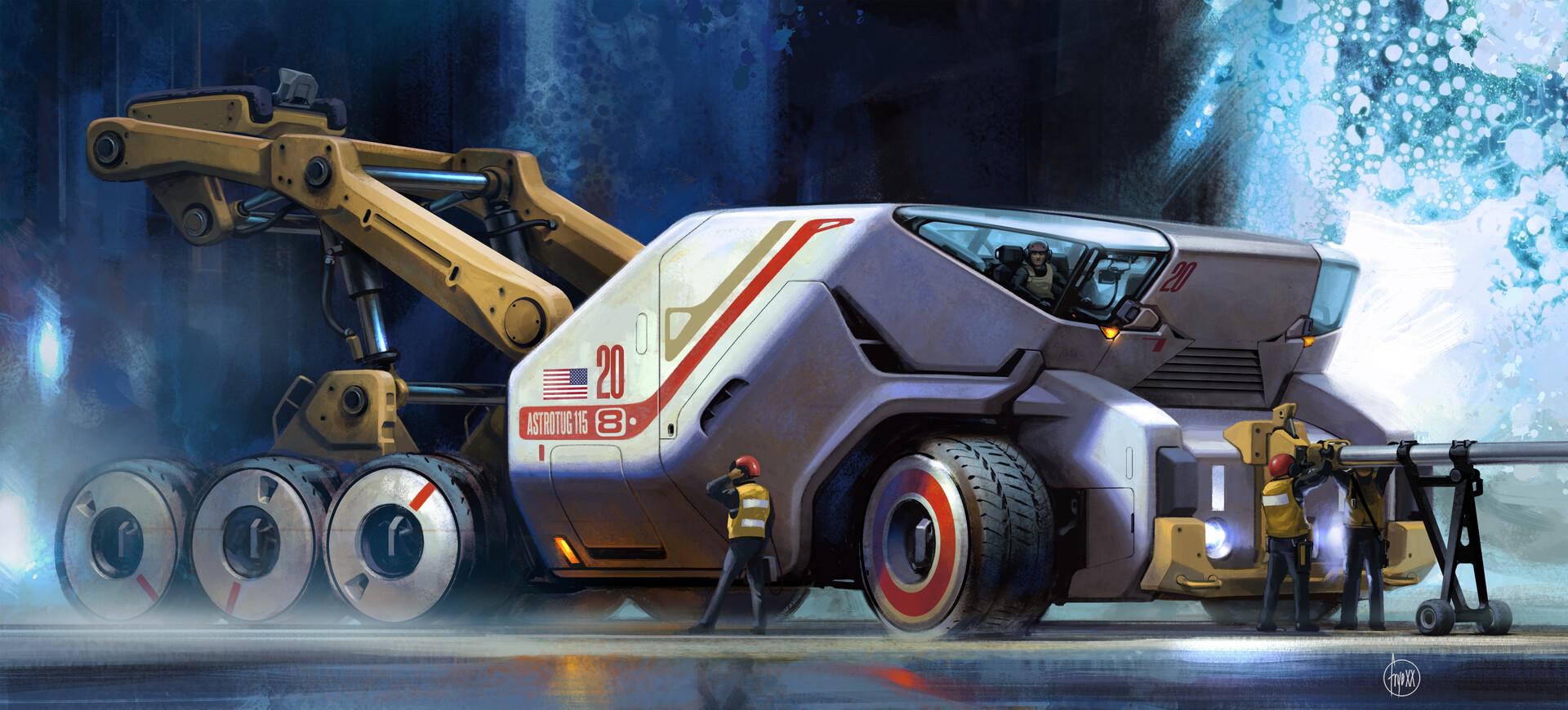 The Sci-Fi Vehicle Designs of John Frye