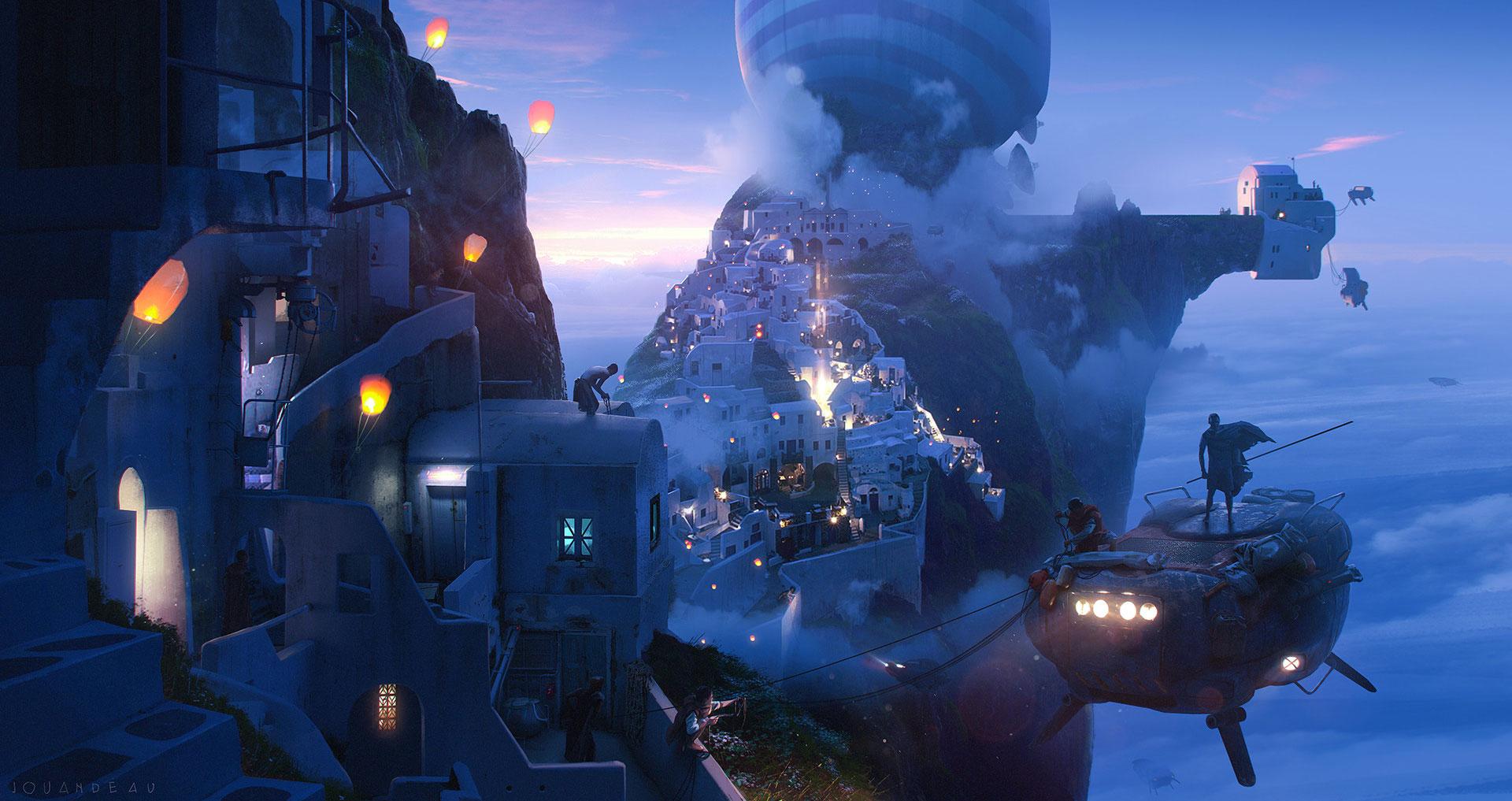 The Stunning Sci-Fi Artworks of Romain Jouandeau