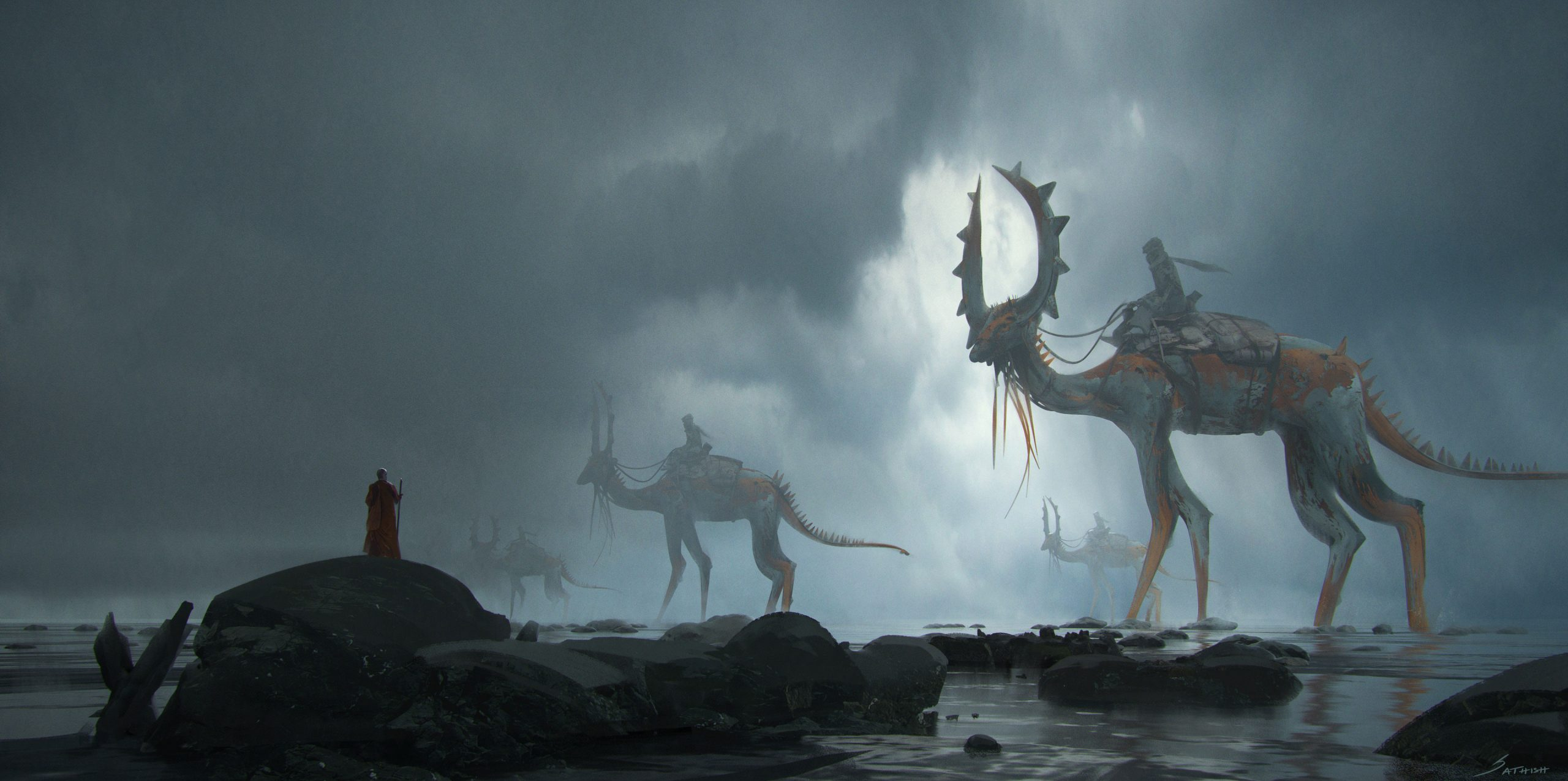 The Sci-Fi Sketches and Concept Art of Sathish Kumar