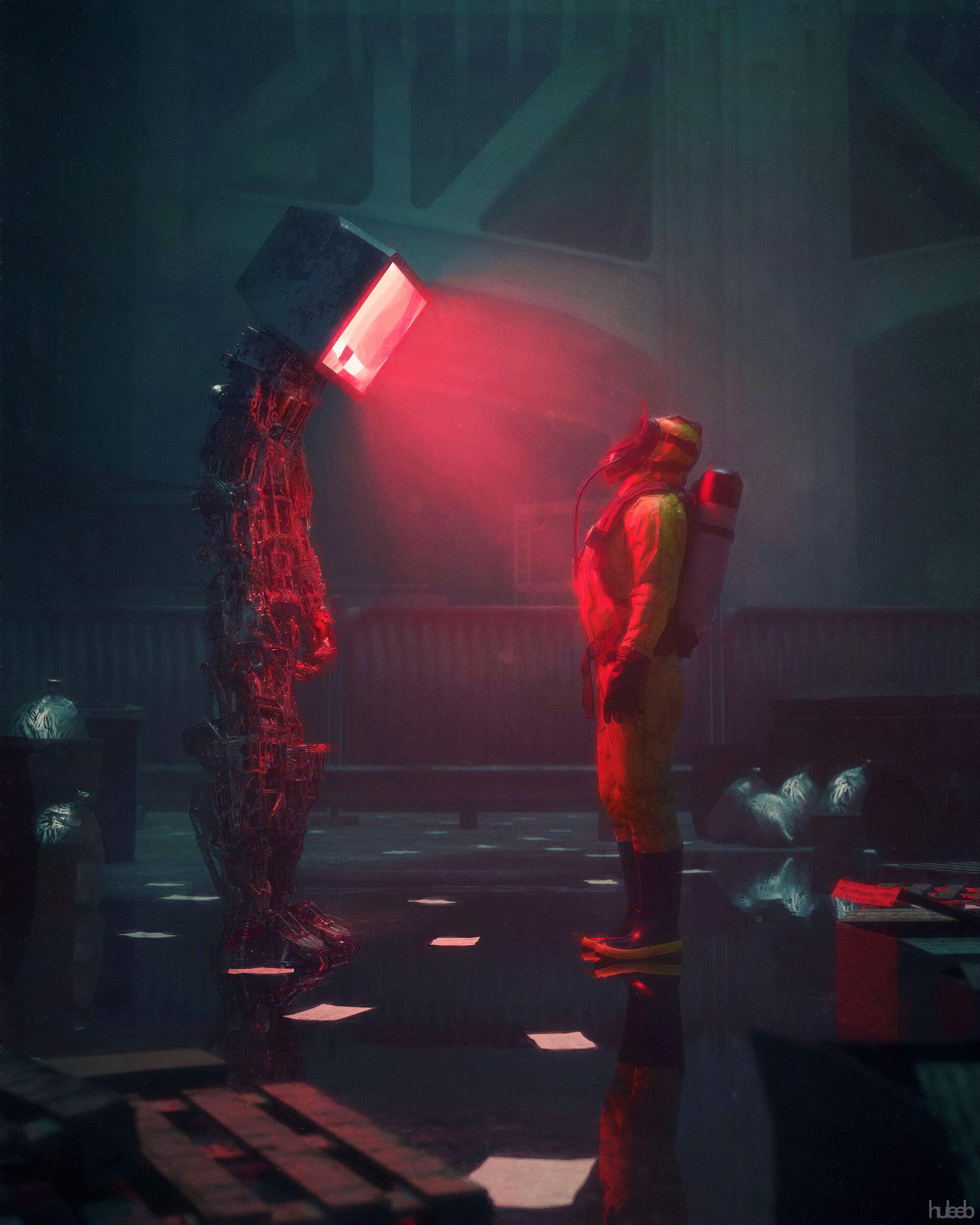 The Surreal Digital Sci-Fi Creations of Huleeb