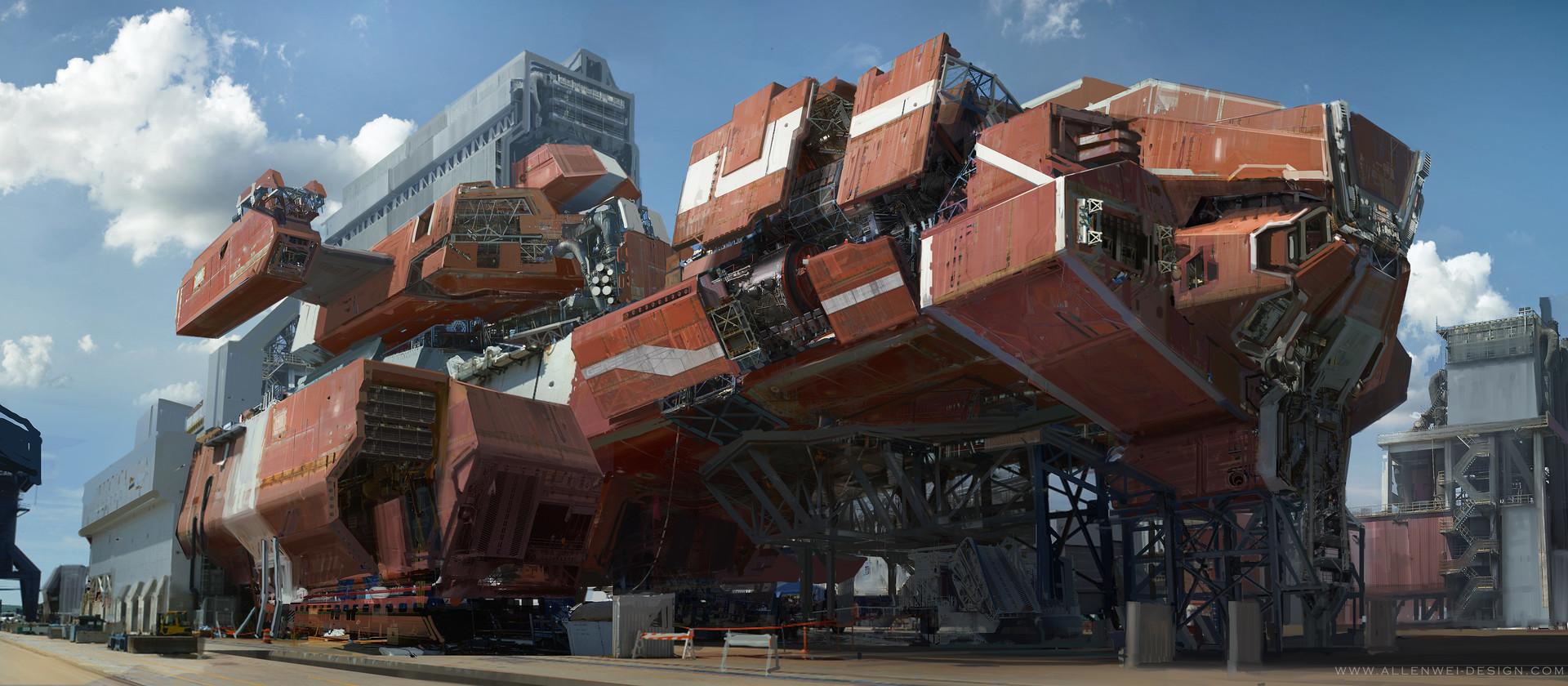 The Futuristic Sci-Fi Creations of Allen Wei